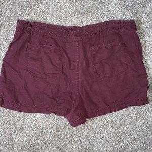 LOFT Shorts - BOGO SALE LOFT linen wine red shorts size 14
